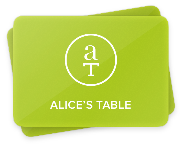 Alice's Table Gift Card